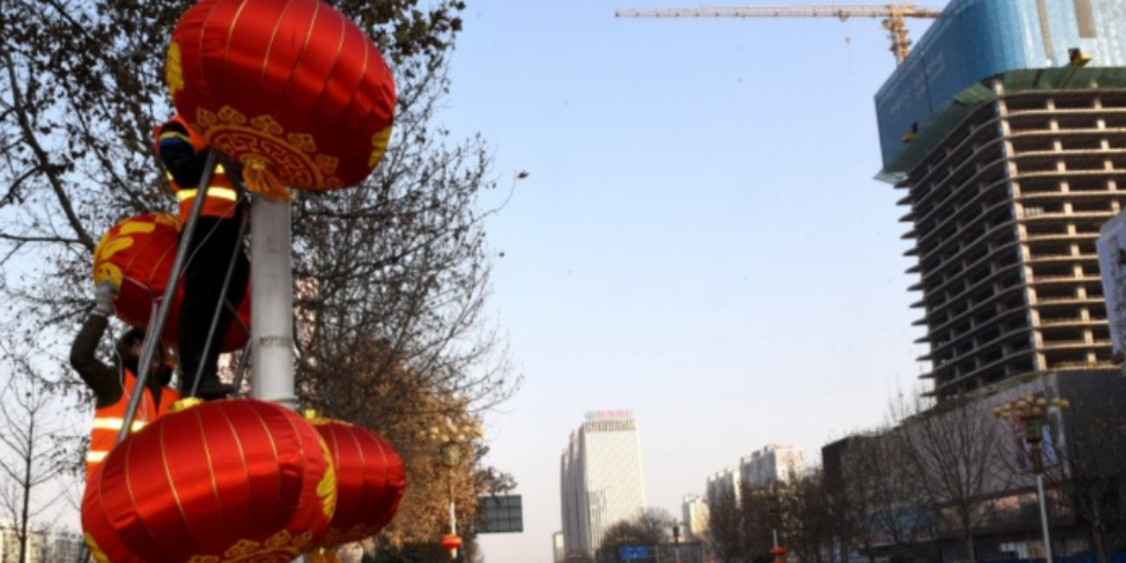 4500余盏大红灯笼扮靓邯郸街头