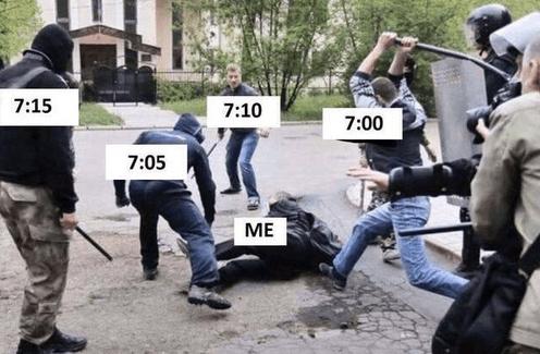 每天早上的我