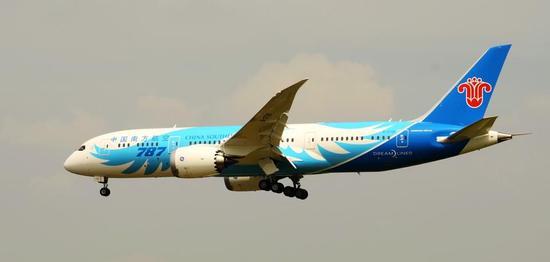 资料图:南航787客机。