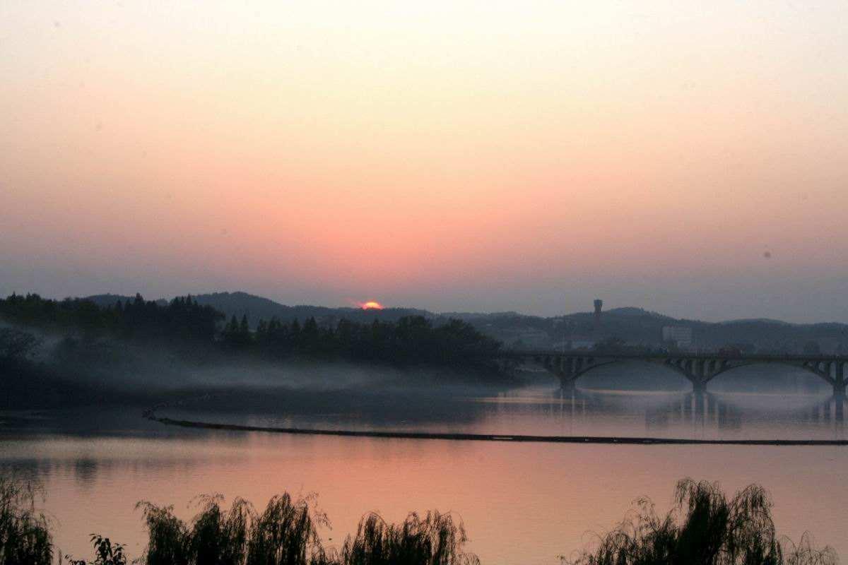 渔舟唱晚,随州白云湖