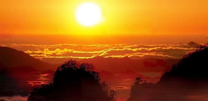 晨起攀登白云山  与日出来一场浪漫的邂逅