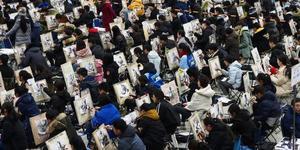 2018年高考艺考开幕 济南六千考生同场竞技