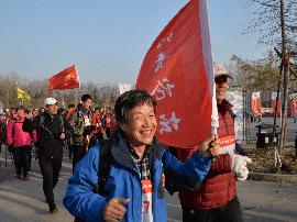 京津冀晋鲁豫山地户外徒步大赛在河北涉县举