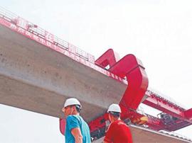 济青高铁淄博段桥梁架设全部完工