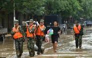 子洲县特大洪灾救援现场