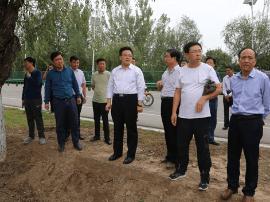 """临猗县长李明指导""""四治六化一创""""农村环境整治工作"""