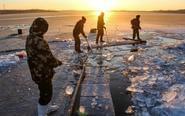 探访辽宁沿海地区采冰现场