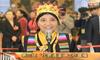 藏族人大代表卓嘎用藏语答记者提问
