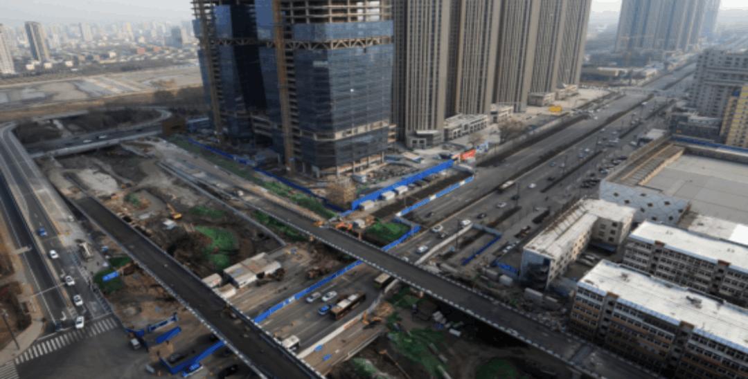 虎峪河快速改造晋祠路段高架桥基本完工