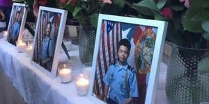 华裔少年为救同学遇害 将以荣誉军礼安葬