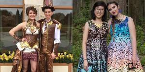 美学生用胶带制作礼服 赢得近7万元奖学金