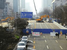 滨河东路部分路段2日开始进行半幅封闭施工