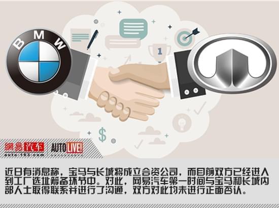 传宝马与长城将成立合资公司 双方回应均未否认