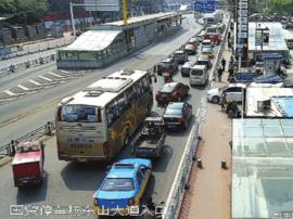 宜昌实施畅通工程 缓解东山隧道出口堵车压力