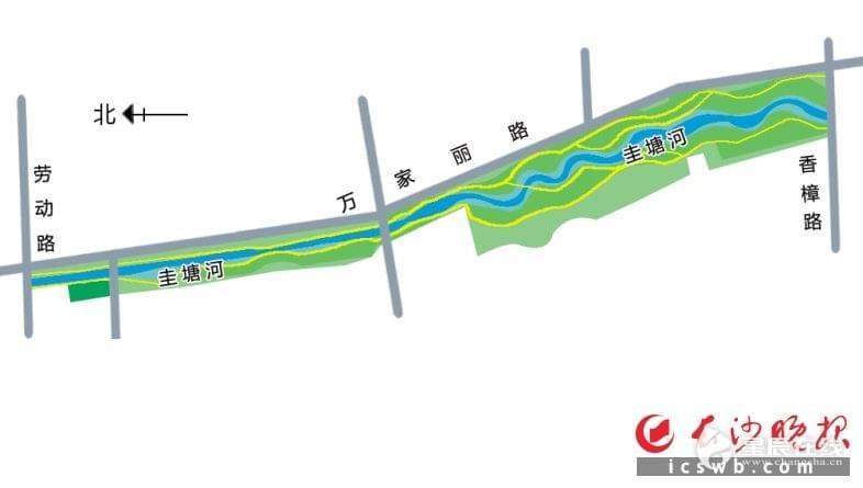 """""""海绵流域""""将亮相长沙圭塘河 全长2.4公里"""
