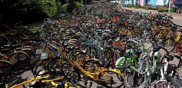 南京上万共享单车违停被清拖 数月无人认领