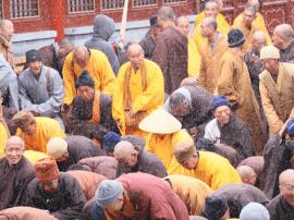 五台山黛螺顶隆重举行为期三天的千僧祈福法会