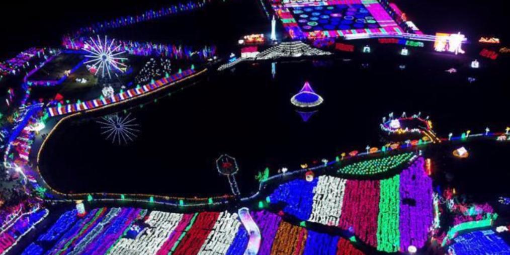 邯郸:灯火璀璨欢度新春佳节