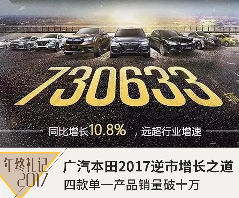 四款单一产品销量破十万 广汽本田逆市增长之道