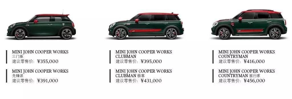 2017上海车展:MINI JCW全车系发布售价