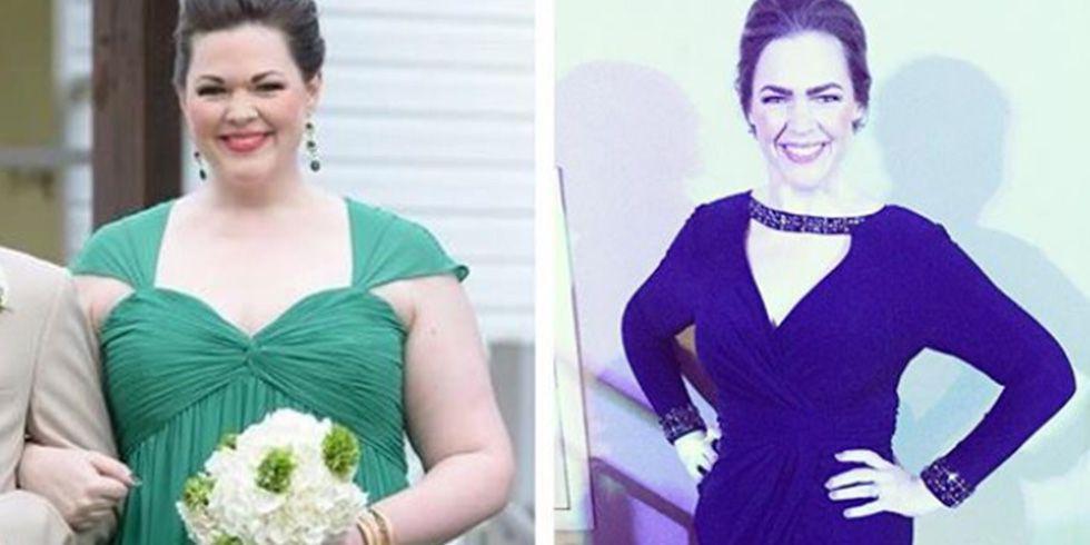 女子被自己的体重吓到 9个月狂减91斤