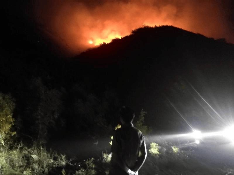 运城市住建局夜赴中条山深林灭火