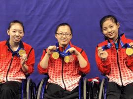 2017年残疾人羽毛球世锦赛河北选手获3金2银