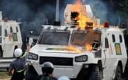 委内瑞拉街头抗议如战场