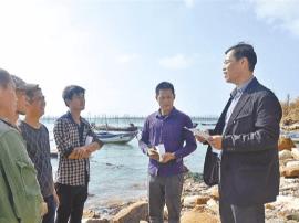 城厢区灵川镇:在海滩上的宣讲会