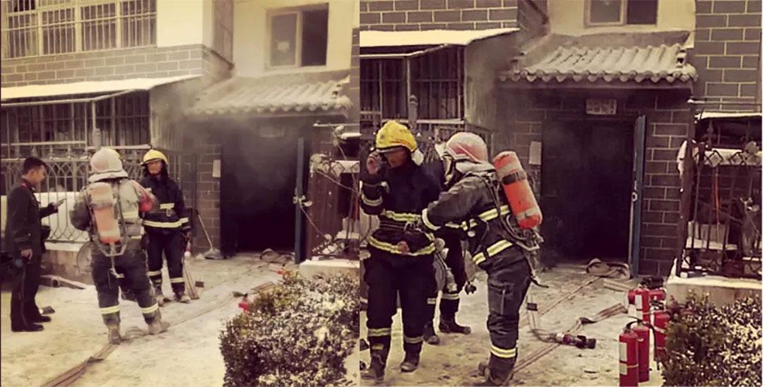 固原一园区地下室发生火灾 现场浓烟滚滚
