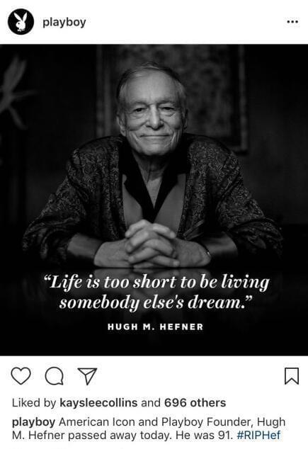 美国《花花公子》杂志创始人休·海夫纳去世 享年91岁