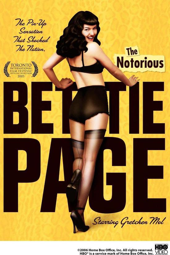 Bettie Page是美国历史上著名的艳星,这是她的传记电影,2005年上映 /IMDB