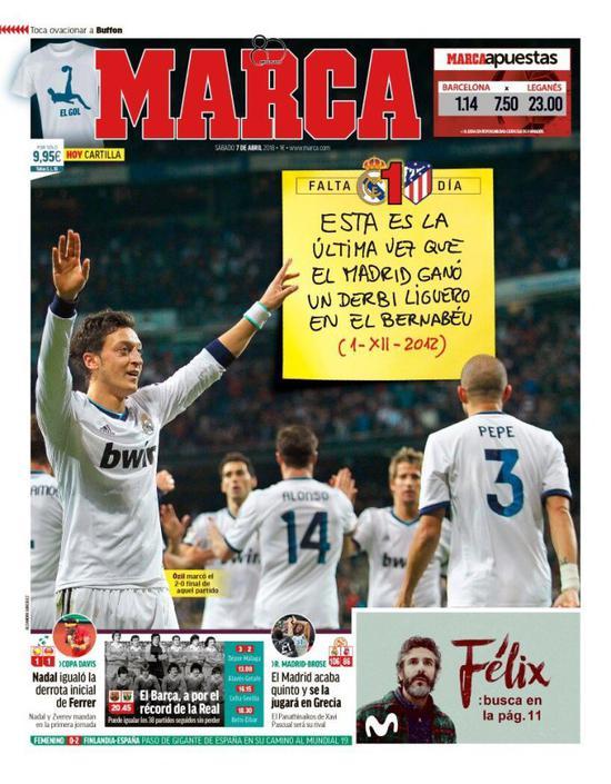 皇马上一次在联赛里主场赢马竞,还是2012年的12月