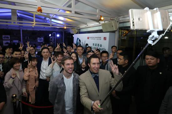 上海大师赛举行欢迎酒会 与偶像零距离亲密接触
