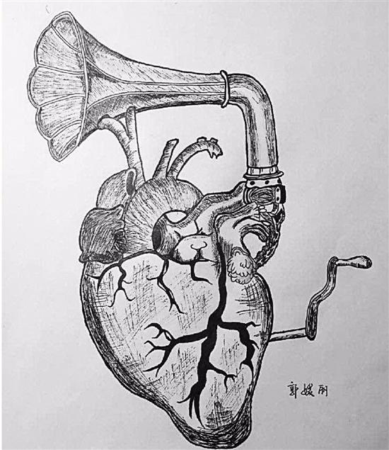 医科大学女大学生的课堂笔记 线条清晰堪比艺术绘本
