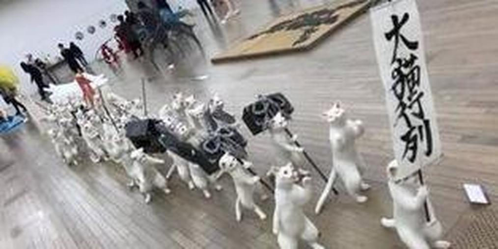 日本大学生制作大猫行列 震惊了整个朋友圈