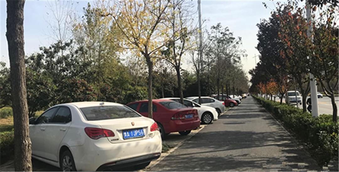 小区外人行道设停车位 停管中心:违规