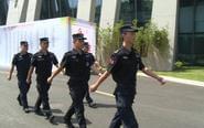 第八届医博会开幕 消防公安联合保平安
