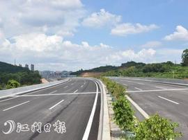 迎宾西路一期工程进展顺利 预计年底通车