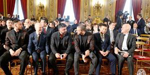 李哥携爱妻 率队造访意大利总统府