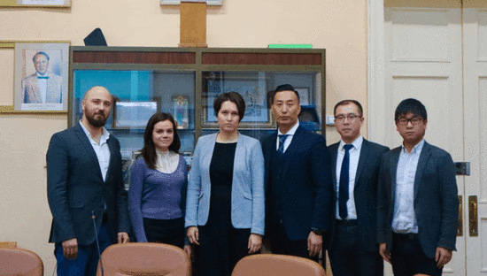 金吉列留学访问莫斯科国立大学新闻系
