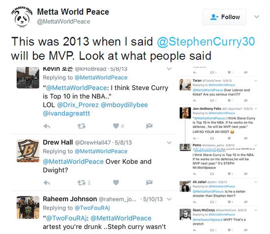 慈世平4年前預測庫裡MVP 網友怒噴:你腦子有問題
