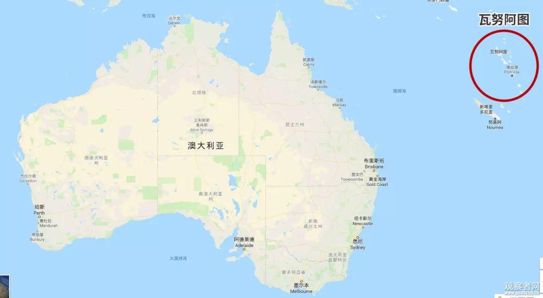 �著澳大利���毫� 瓦努阿�D首次公布�c中企合同