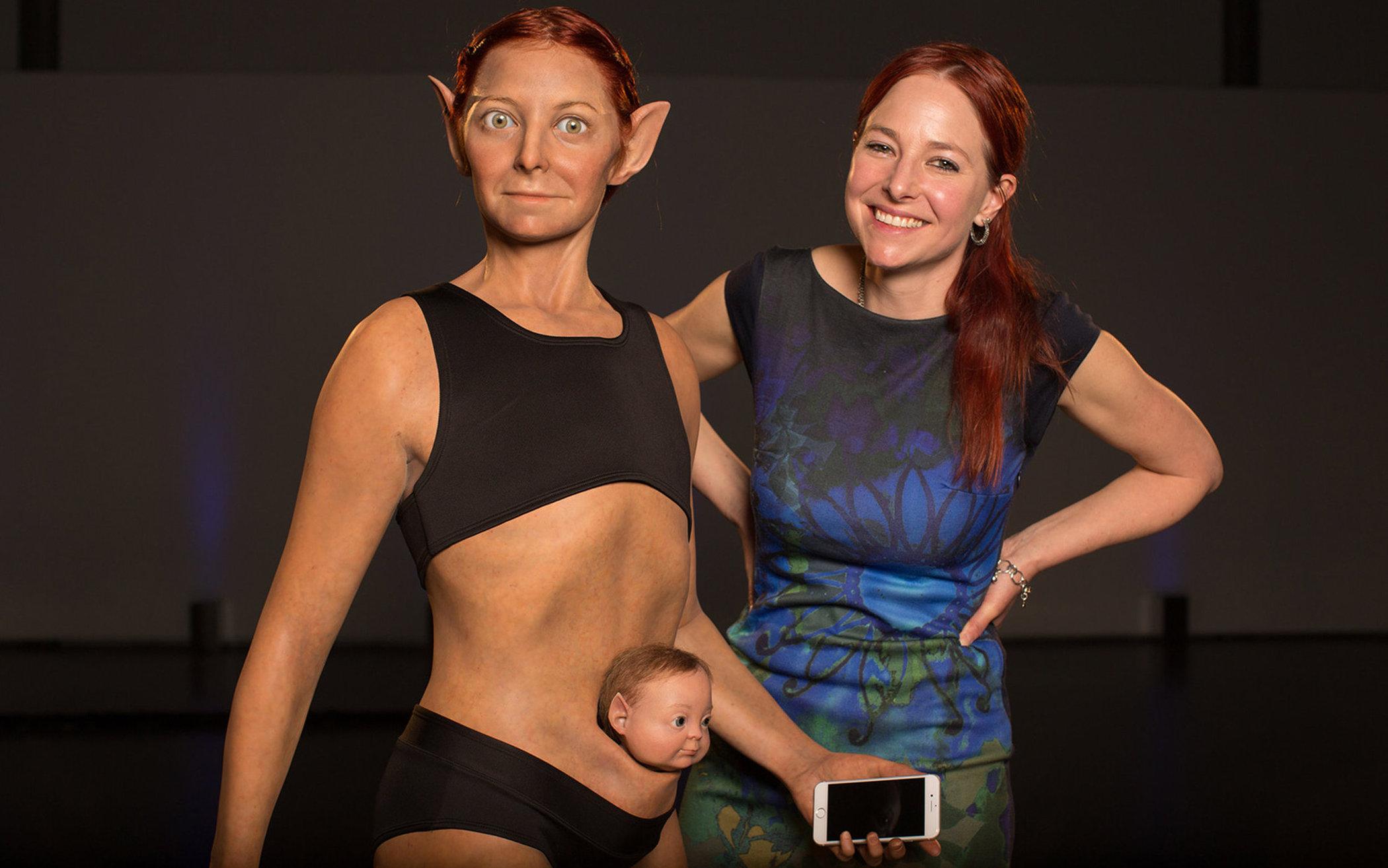 """科学家打造""""完美""""女性身体 但看起来实在可怕的照片 - 1"""