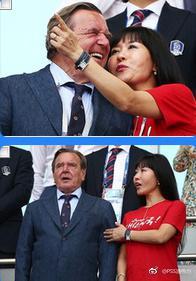 前德总理携韩国女友观战 第五次婚姻年龄差是…