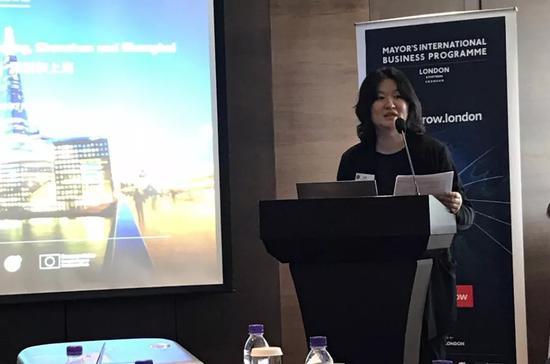 伦敦发展促进署北方区副总裁朱翎