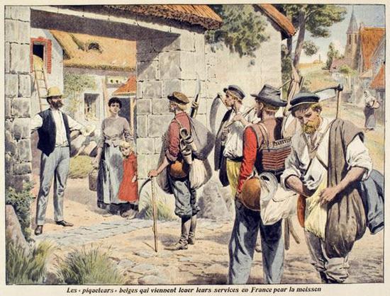 十九世纪下旬描绘比利时工人的法国报纸插画