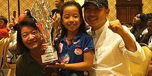 王者血统!刘国梁爱女首夺世界冠军