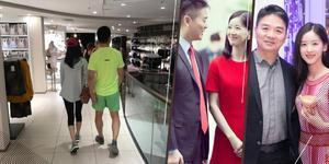 刘强东与奶茶妹妹十指紧扣 还陪着买内衣