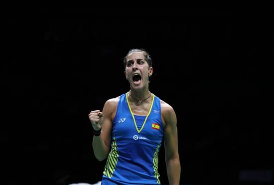马林完胜印度猛女 三夺世锦赛女单冠军成历史第一
